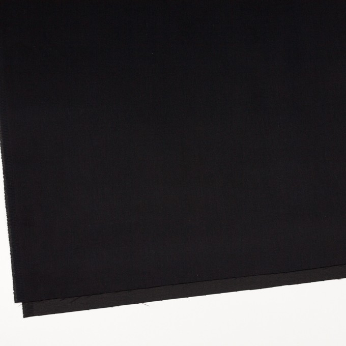コットン×ポリエステル×無地(ブラック)×サテン_全2色 イメージ2