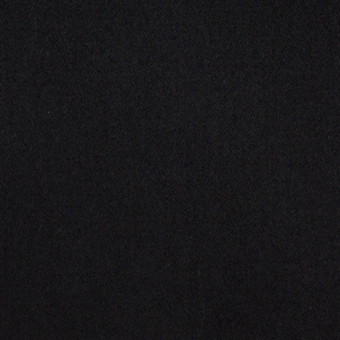 コットン×ポリエステル×無地(ブラック)×サテン_全2色 イメージ1