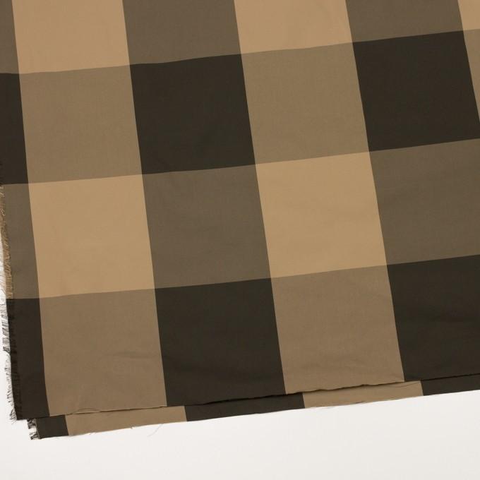 ポリエステル×チェック(ベージュ&ダークブラウン)×形状記憶サージ_全2色 イメージ2