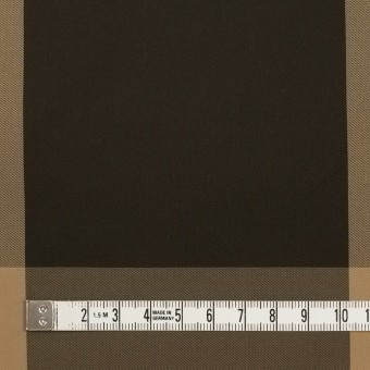 ポリエステル×チェック(ベージュ&ダークブラウン)×形状記憶サージ_全2色 サムネイル4