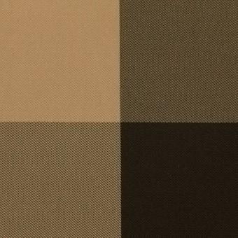 ポリエステル×チェック(ベージュ&ダークブラウン)×形状記憶サージ_全2色