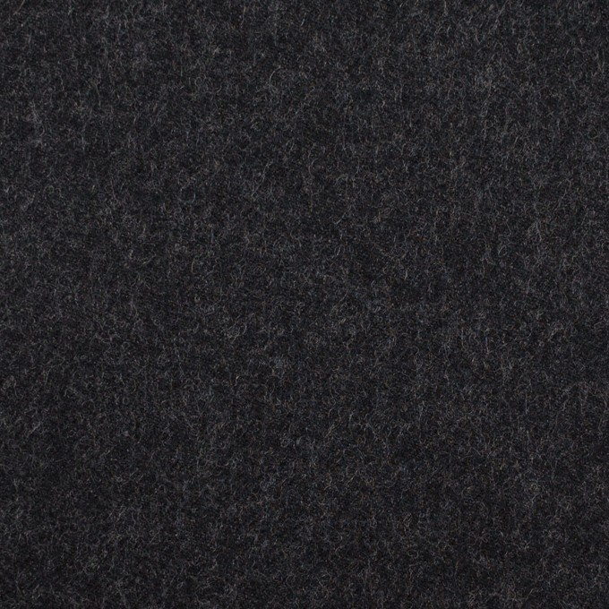 ウール×無地(チャコールブラック)×サージ イメージ1