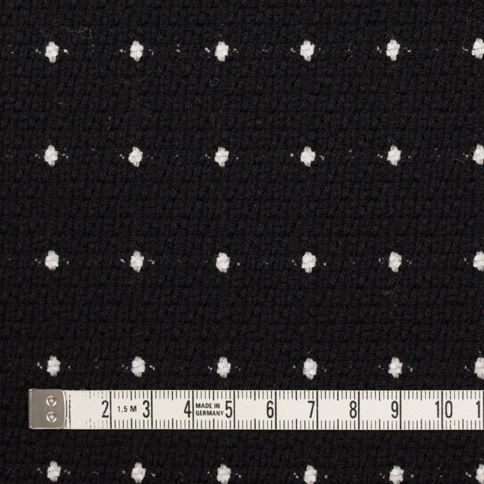 ウール&コットン混×ドット(ブラック)×ドビー イメージ4