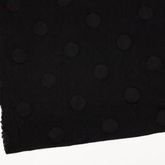 ウール×サークル(ブラック)×カットジャガード サムネイル2