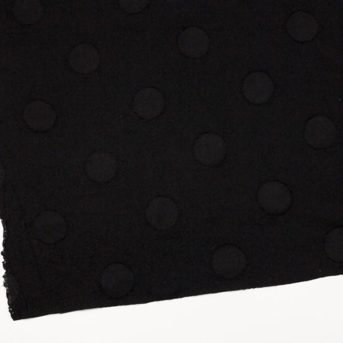 ウール×サークル(ブラック)×カットジャガード イメージ2
