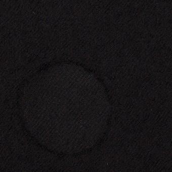 ウール×サークル(ブラック)×カットジャガード