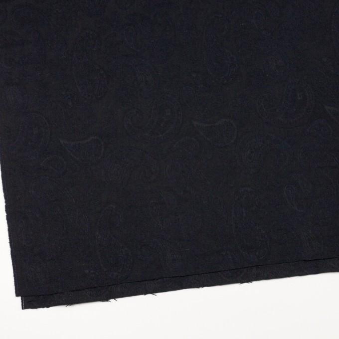コットン&ウール混×ペイズリー(ダークネイビー)×ジャガード イメージ2