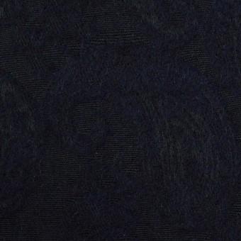 コットン&ウール混×ペイズリー(ダークネイビー)×ジャガード