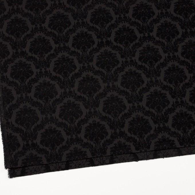 ポリエステル&コットン×幾何学模様(ブラック)×ジャガード イメージ2