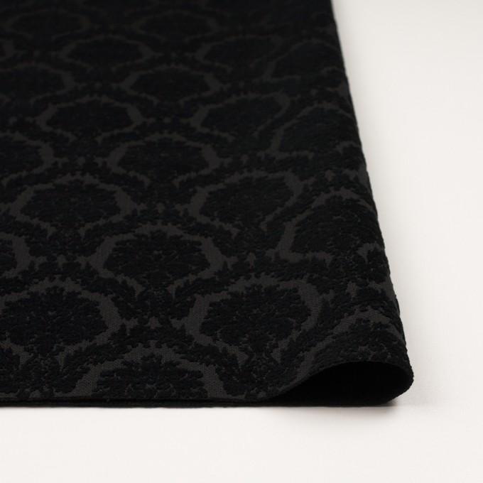 ポリエステル&コットン×幾何学模様(ブラック)×ジャガード イメージ3