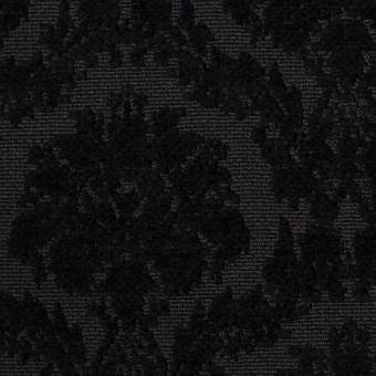 ポリエステル&コットン×幾何学模様(ブラック)×ジャガード