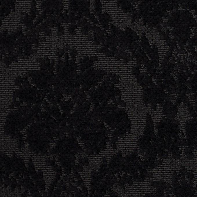 ポリエステル&コットン×幾何学模様(ブラック)×ジャガード イメージ1