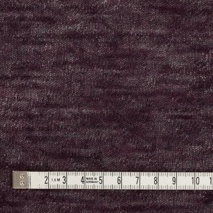 コットン&ウール×無地(ボルドー)×メッシュ&天竺ニット_全3色 イメージ4