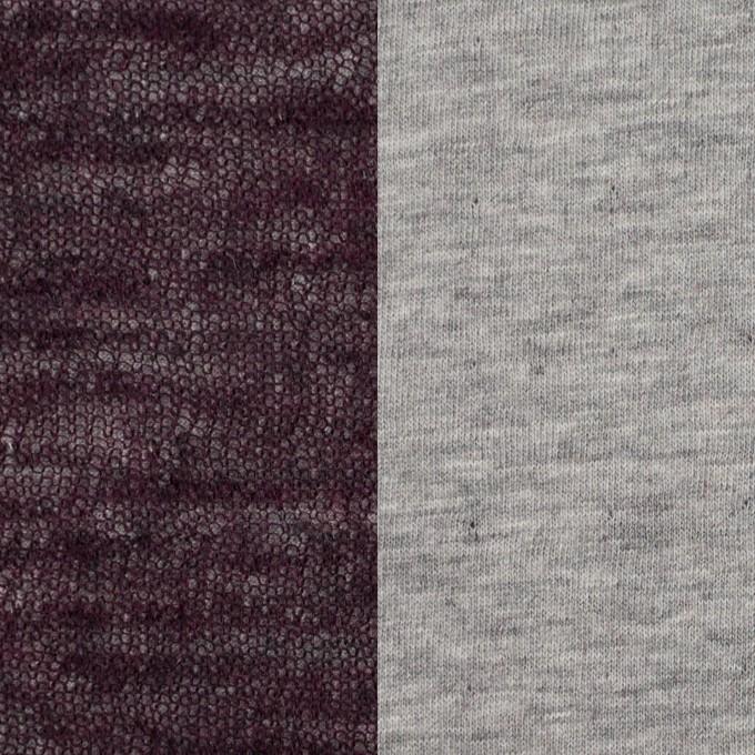 コットン&ウール×無地(ボルドー)×メッシュ&天竺ニット_全3色 イメージ1