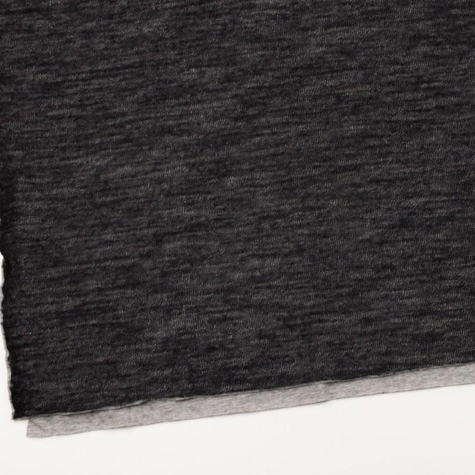 コットン&ウール×無地(ブラック)×メッシュ&天竺ニット_全3色 イメージ2