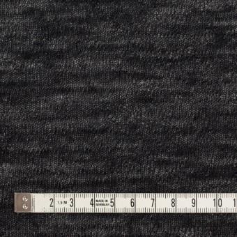 コットン&ウール×無地(ブラック)×メッシュ&天竺ニット_全3色 サムネイル4