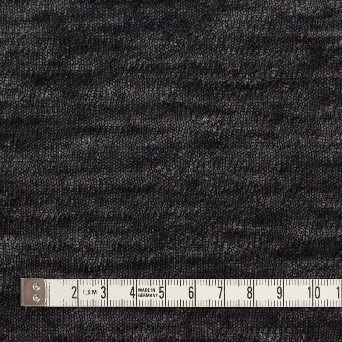 コットン&ウール×無地(ブラック)×メッシュ&天竺ニット_全3色 イメージ4