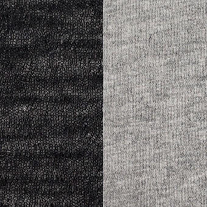 コットン&ウール×無地(ブラック)×メッシュ&天竺ニット_全3色 イメージ1
