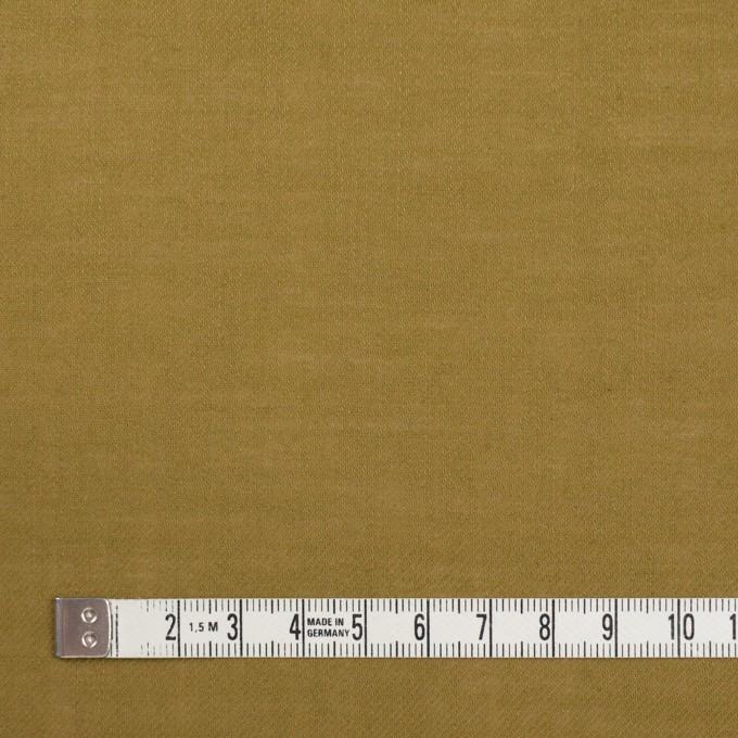 ウール&ポリエステル×無地(オリーブ)×薄サージ イメージ4