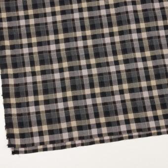 コットン&ポリエステル混×チェック(チャコールグレー&ブラック)×ヘリンボーン サムネイル2