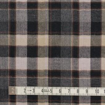 コットン&ポリエステル混×チェック(チャコールグレー&ブラック)×ヘリンボーン サムネイル4