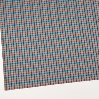 ウール&シルク×チェック(オレンジ、ターコイズ&ティーグリーン)×サージ_全2色 サムネイル2