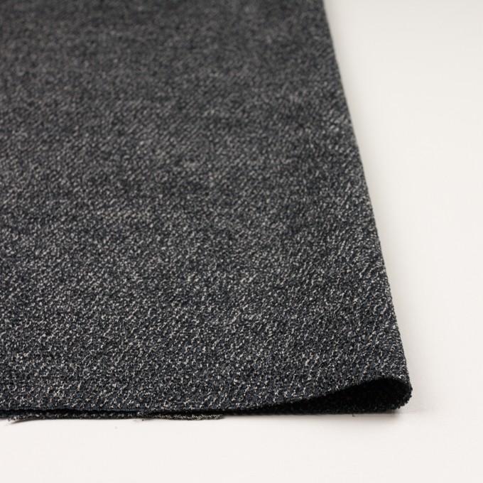 シルク&レーヨン×ミックス(ブルーグレー&ブラック)×かわり織 イメージ3