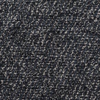 シルク&レーヨン×ミックス(ブルーグレー&ブラック)×かわり織