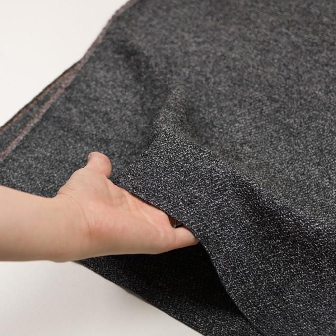 シルク&レーヨン×ミックス(ブルーグレー&ブラック)×かわり織 イメージ5