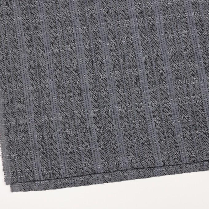 ウール&アクリル混×チェック(グレープグレー)×ファンシーツイード イメージ2