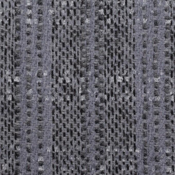 ウール&アクリル混×チェック(グレープグレー)×ファンシーツイード イメージ1