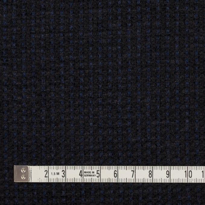 ウール&アクリル×ミックス(ミッドナイトブルー&ブラック)×ファンシーツイード イメージ4
