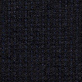 ウール&アクリル×ミックス(ミッドナイトブルー&ブラック)×ファンシーツイード