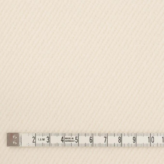 ウール&ナイロン×無地(クリーム)×かわり織 イメージ4
