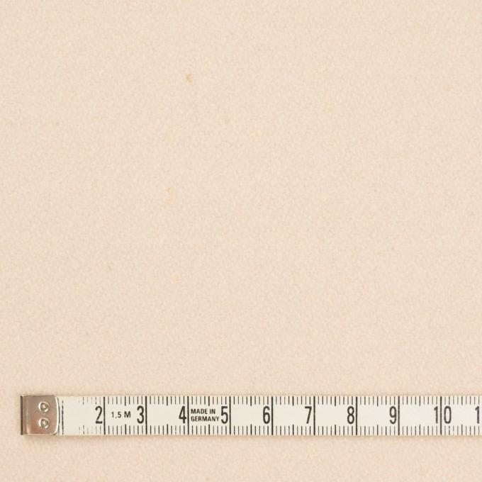 ウール&ナイロン×無地(アンティークホワイト)×フラノ(フランネル)_イタリア製 イメージ4