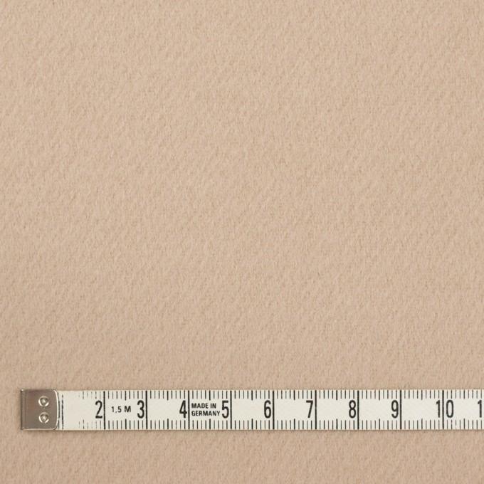 ウール×無地(ライトアーモンド)×ビーバー イメージ4