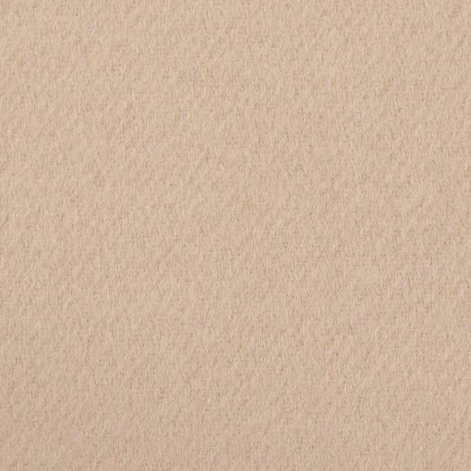 ウール×無地(ライトアーモンド)×ビーバー イメージ1