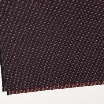 コットン&ビスコース×ミックス(ダークネイビー、アイボリー&レッド)×斜子織_イタリア製 サムネイル2