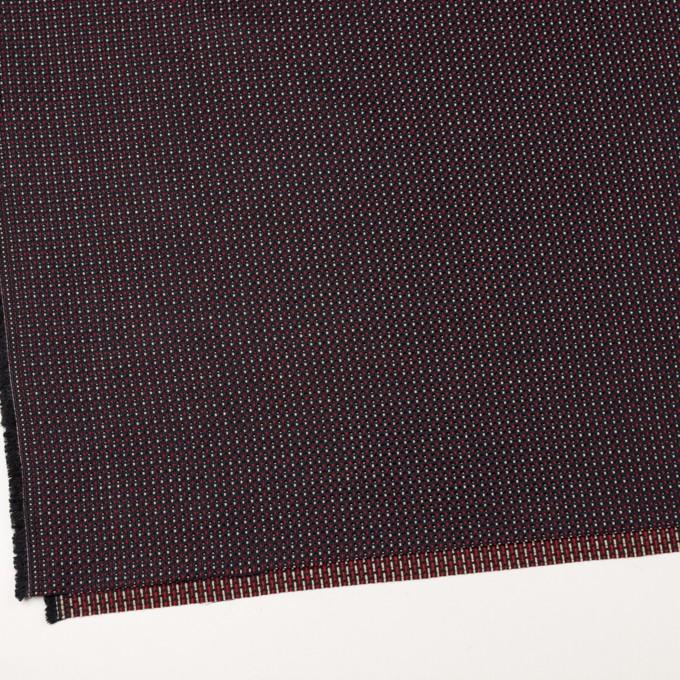 コットン&ビスコース×ミックス(ダークネイビー、アイボリー&レッド)×斜子織_イタリア製 イメージ2