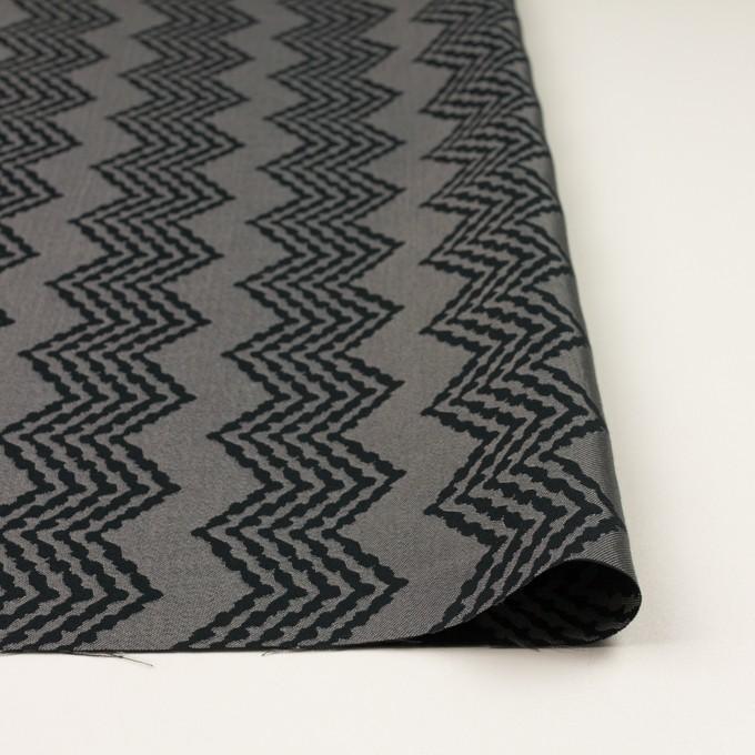 コットン&レーヨン×幾何学模様(シルバー&ブラック)×ジャガード イメージ3