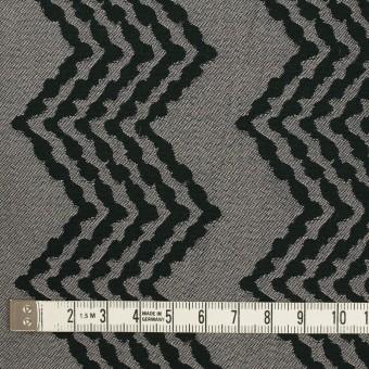 コットン&レーヨン×幾何学模様(シルバー&ブラック)×ジャガード サムネイル4