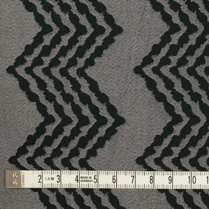 コットン&レーヨン×幾何学模様(シルバー&ブラック)×ジャガード イメージ4