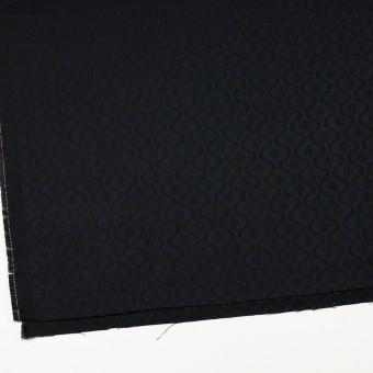 コットン&レーヨン×幾何学模様(ダークネイビー)×サテンジャガード サムネイル2