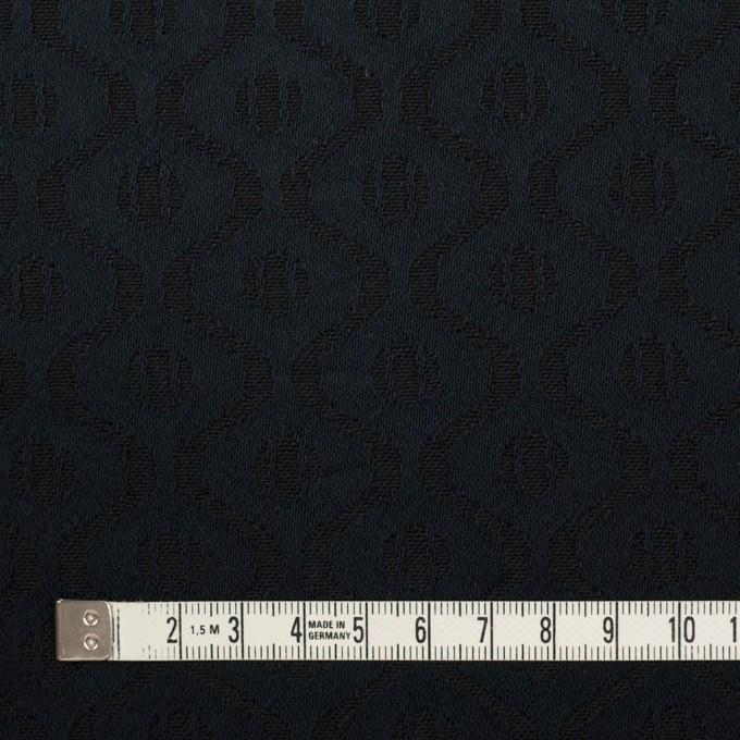 コットン&レーヨン×幾何学模様(ダークネイビー)×サテンジャガード イメージ4