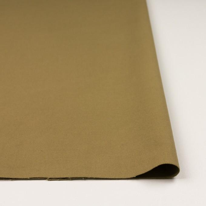 コットン&ポリウレタン×無地(イエローオーカー)×フランネル・ストレッチ_イタリア製 イメージ3