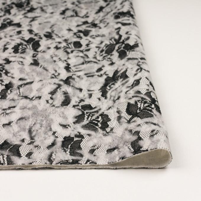ポリエステル&アクリル混×フラワー(オフホワイト)×ニードルパンチレース_全3色 イメージ3