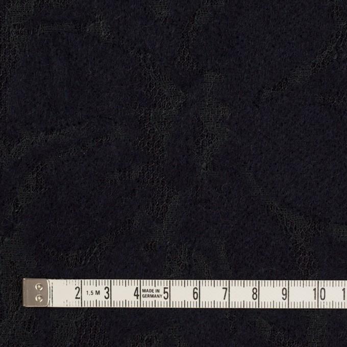 ポリエステル&アクリル混×フラワー(ダークネイビー)×ニードルパンチレース_全3色 イメージ4