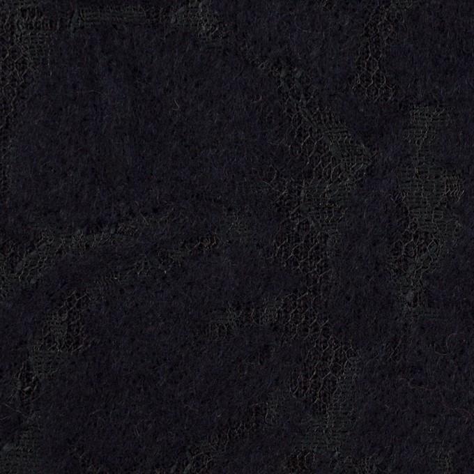 ポリエステル&アクリル混×フラワー(ダークネイビー)×ニードルパンチレース_全3色 イメージ1