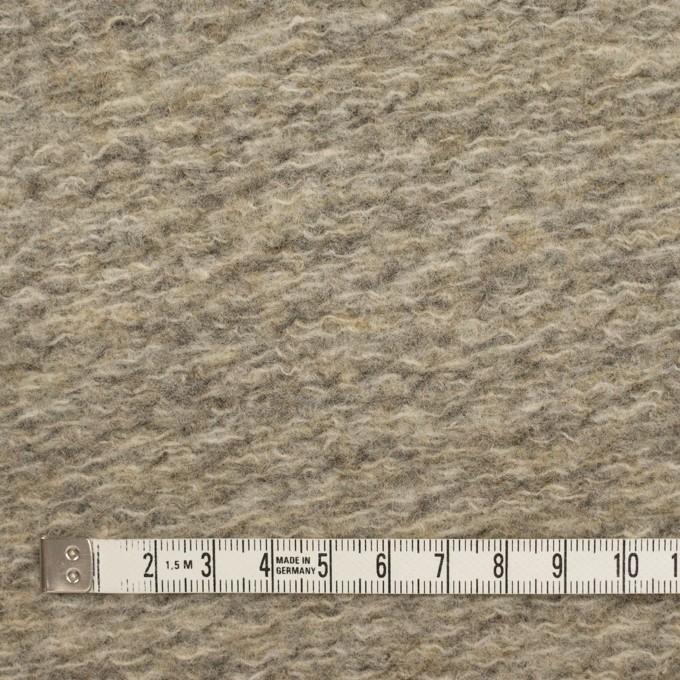ウール&ポリエステル混×無地(オートミール)×ループニット_全2色 イメージ4