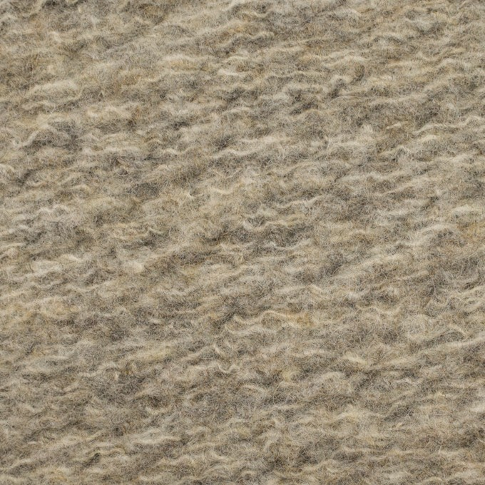 ウール&ポリエステル混×無地(オートミール)×ループニット_全2色 イメージ1